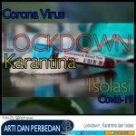 Arti dan Perbedaan serta Persamaan Lockdown, Isolasi dan Karantina